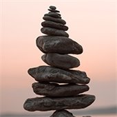 Self-Hypnosis Stacked Rocks