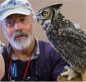 Owl on Cameron's shoulder