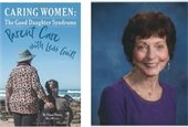 Photo of Elana Peters and her book, Caring Women