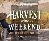 harvest wine weekend logo with woman drinking wine in a vineyard