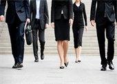 5 business people walking