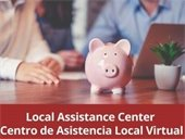 Local Assistance Center graphic with piggy bank