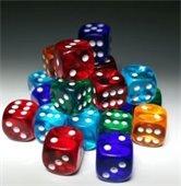 Photo of multi-colored dice
