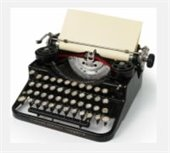 Photo of old fashioned typewriter