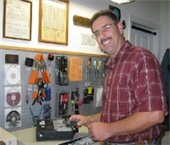 Instructor with computer components