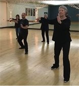 Faye teaching Body in Balance class