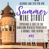 Summer wine stroll graphic