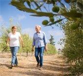 Ladies walking at Groves on 41