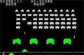 Space invaders screen shot