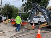 Public Works crew repairing streets