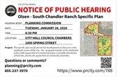 Olsen-South Chandler public hearing notice