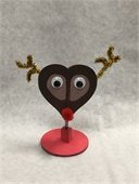 Photo of reindeer-themed photo holder