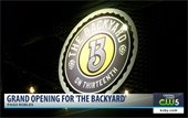 KSBY screen shot of The Backyard grand opening sign