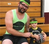 Dad and son - Baby Ballers
