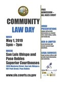 Community Law Day informational poster