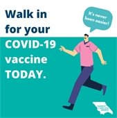Vaccine walk-ins now accepted