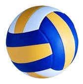 Blue, gold and white volleyball