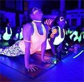 Glow in the dark yoga