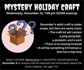 Mystery Holiday Craft graphic