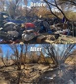 Salinas riverbed before and after