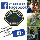 photo collage of PD logo, Facebook logo and images from Paso Night Out