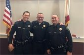 Officerfs Virgil and Mobly with Police Chief Ty Lewis