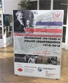poster announcing 100 years of Polish independence