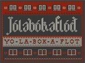 Jólabókafló needlepoint showing pronunciation