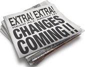 Front page extra: changes coming!