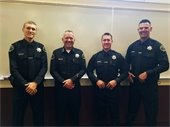 New officers with Chief Lewis