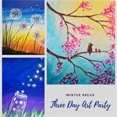 3 day art party graphic