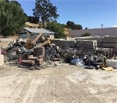Pile of trash from riverbed