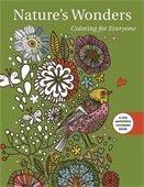 Nature's Wonders coloring book cover art