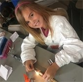 Girl completing a circuit