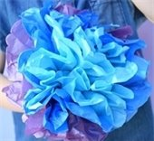 Colorful paper flower
