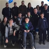 Kids from Make a Wish Foundation with PRPD officers