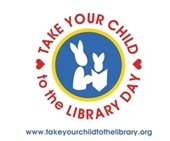 Take your child to the library logo