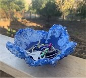 Blue resin bowl