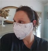 Woman in cloth face mask