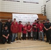 Special Olympians with PRPD officers