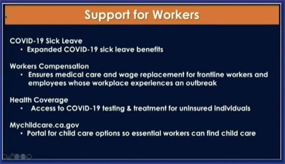Support for workers linked slide