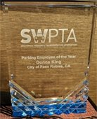 SWPTA award plaque honoring Donna King