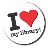 I love my library button