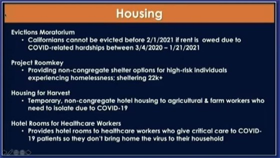 Housing linked slide
