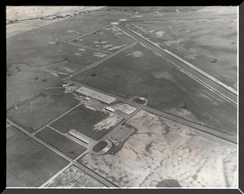 Aerial View of the Airport in 1955