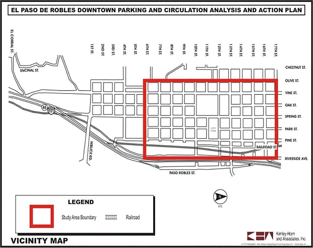 El Paso De Robles Downtown Parking and Circulation Analysis and Action Plan Vicinity Map
