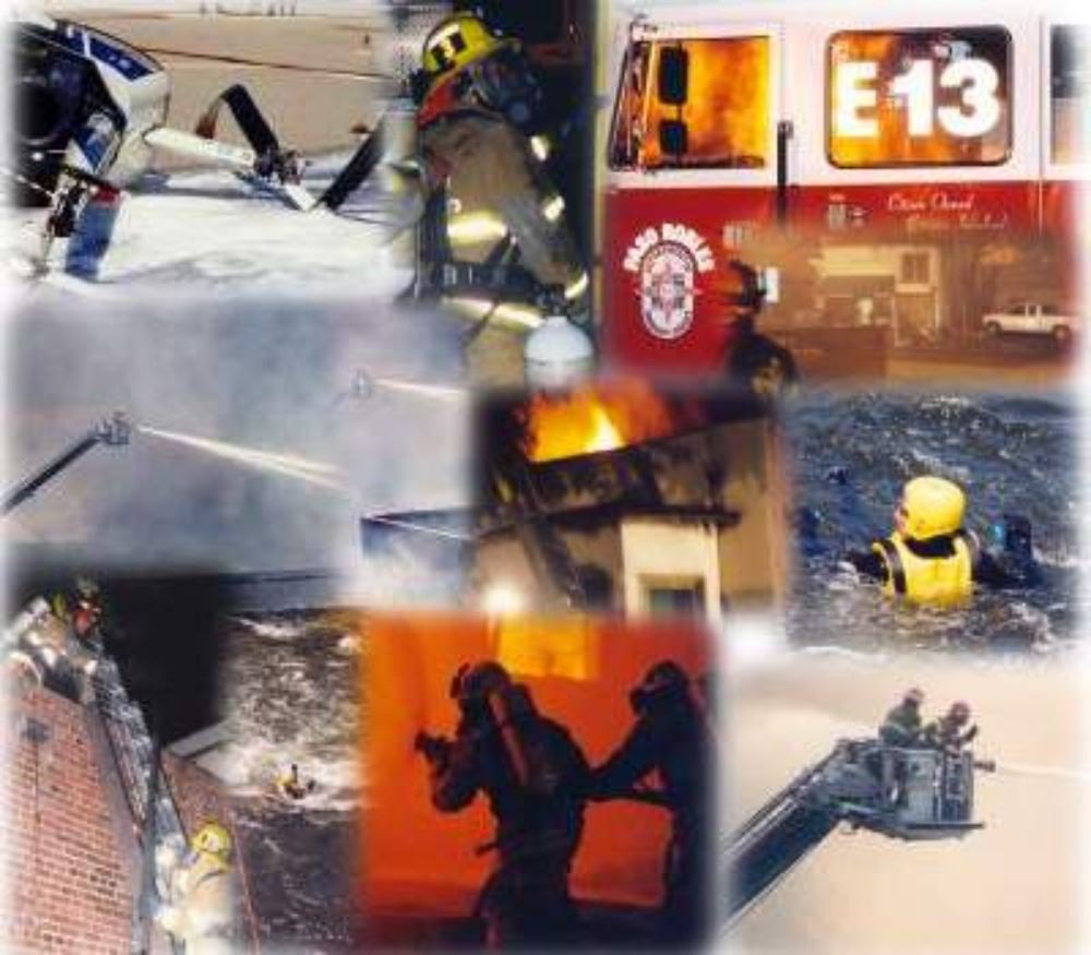 A collage of photos of the Emergency Services staff