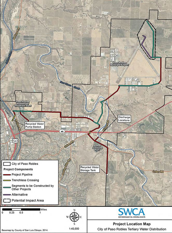 Recycled Water Distribution System Project Map