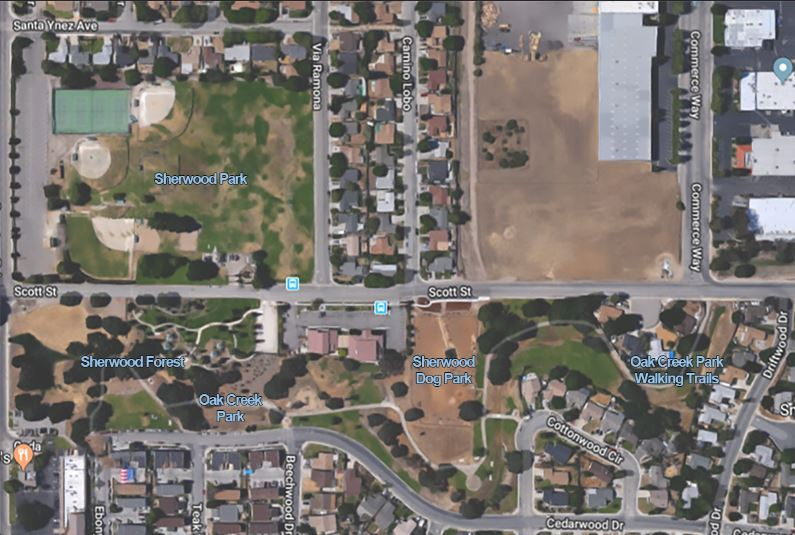 Sherwood Parks aerial with park names