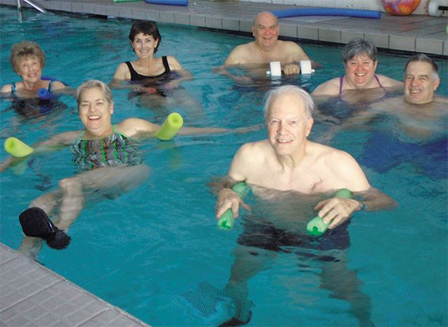 Aqua fit class at Municipal Pool